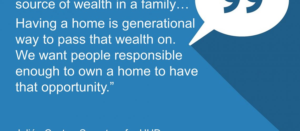 home is the greatest source of wealth